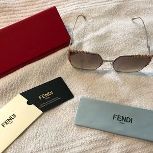 Brand New Fendi Sunglasses, Case, Cleaning Cloth